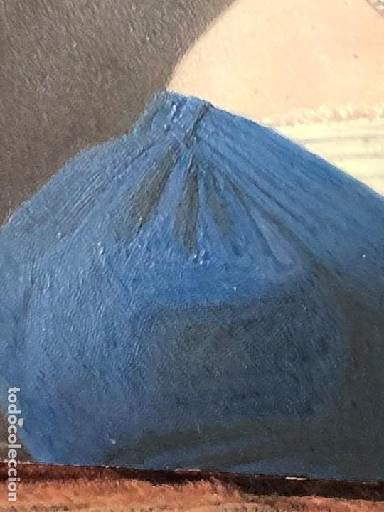 Kunst: miniatura ferrotipo pintado joven con peinado flecha ave perlas estuche origen no firma calidad 8x7c - Foto 19 - 126805419