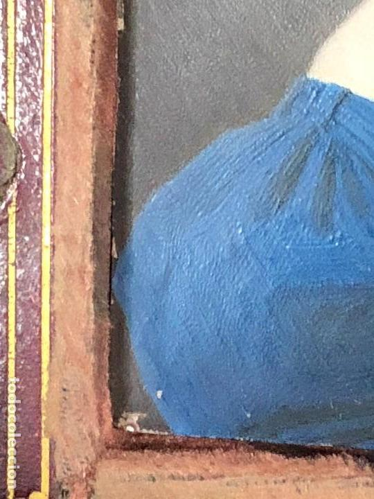 Kunst: miniatura ferrotipo pintado joven con peinado flecha ave perlas estuche origen no firma calidad 8x7c - Foto 20 - 126805419