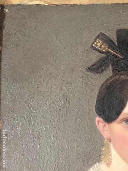 Kunst: miniatura ferrotipo pintado joven con peinado flecha ave perlas estuche origen no firma calidad 8x7c - Foto 22 - 126805419