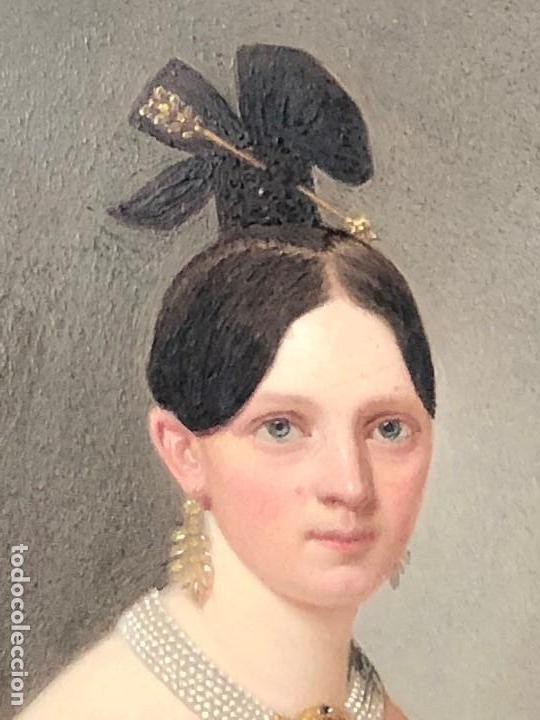 Kunst: miniatura ferrotipo pintado joven con peinado flecha ave perlas estuche origen no firma calidad 8x7c - Foto 23 - 126805419