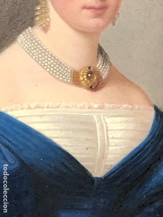 Kunst: miniatura ferrotipo pintado joven con peinado flecha ave perlas estuche origen no firma calidad 8x7c - Foto 25 - 126805419
