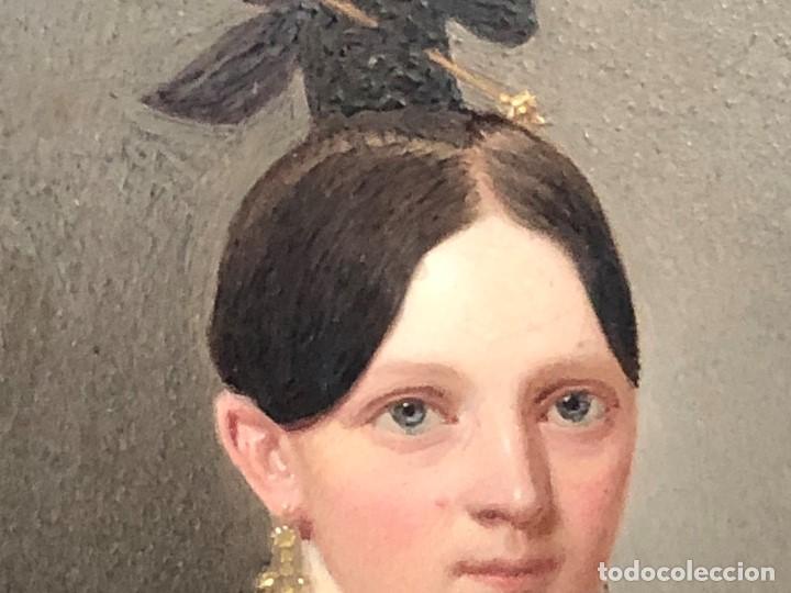 Kunst: miniatura ferrotipo pintado joven con peinado flecha ave perlas estuche origen no firma calidad 8x7c - Foto 31 - 126805419