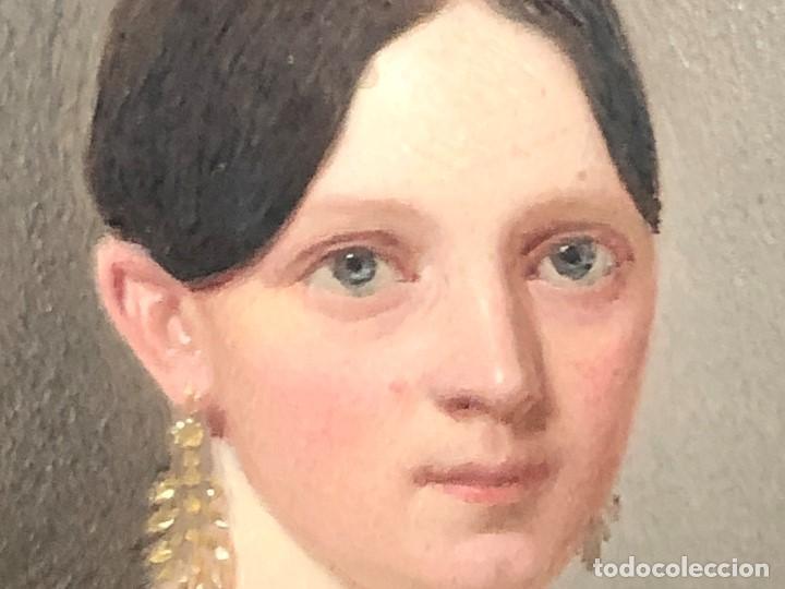 Kunst: miniatura ferrotipo pintado joven con peinado flecha ave perlas estuche origen no firma calidad 8x7c - Foto 32 - 126805419