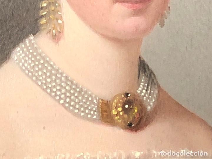 Kunst: miniatura ferrotipo pintado joven con peinado flecha ave perlas estuche origen no firma calidad 8x7c - Foto 34 - 126805419