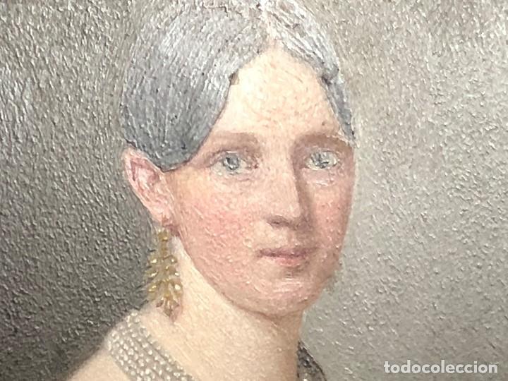 Kunst: miniatura ferrotipo pintado joven con peinado flecha ave perlas estuche origen no firma calidad 8x7c - Foto 41 - 126805419