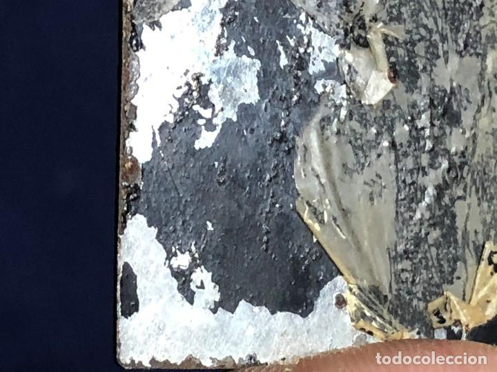 Kunst: miniatura ferrotipo pintado joven con peinado flecha ave perlas estuche origen no firma calidad 8x7c - Foto 53 - 126805419