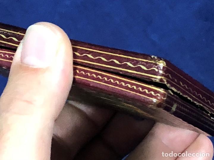 Kunst: miniatura ferrotipo pintado joven con peinado flecha ave perlas estuche origen no firma calidad 8x7c - Foto 65 - 126805419