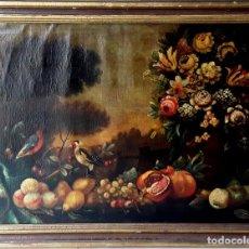 Arte: BODEGÓN. ÓLEO SOBRE TELA. ANÓNIMO. ESCUELA ESPAÑOLA. SIGLO XIX. . Lote 126850031