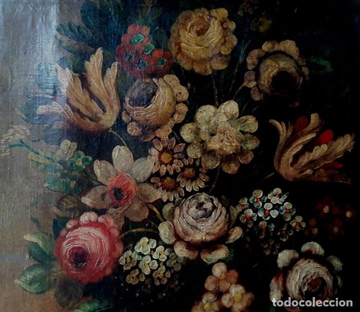 Arte: BODEGÓN. ÓLEO SOBRE TELA. ANÓNIMO. ESCUELA ESPAÑOLA. SIGLO XIX. - Foto 3 - 126850031