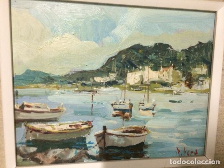 RIBERA, SANT FELIU DE GUIXOLS, 26X20CM MÁS MARCO, OLEO SOBRE LIENZO (Arte - Pintura - Pintura al Óleo Contemporánea )