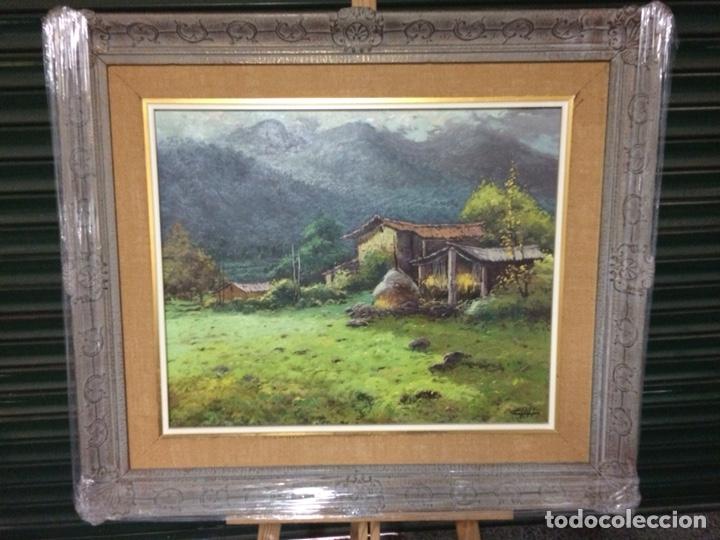 CLOLL ?, ESCUELA OLOTINA,60X49 CM MÁS MARCO, OLEO SOBRE LIENZO (Arte - Pintura - Pintura al Óleo Contemporánea )