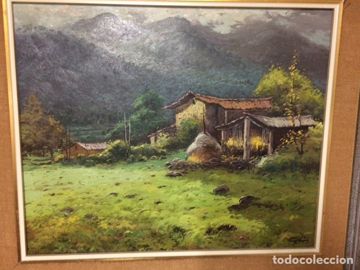 Arte: Cloll ?, escuela olotina,60x49 cm más marco, oleo sobre lienzo - Foto 2 - 127008595