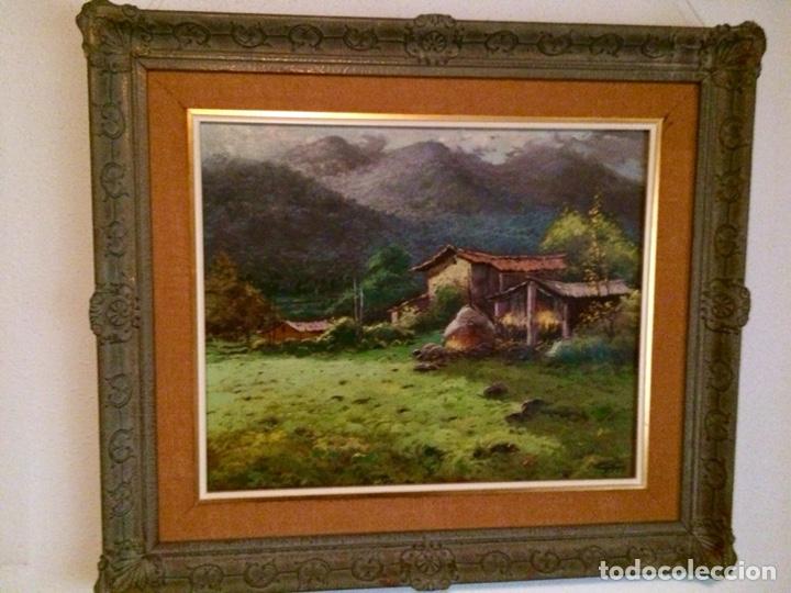 Arte: Cloll ?, escuela olotina,60x49 cm más marco, oleo sobre lienzo - Foto 3 - 127008595
