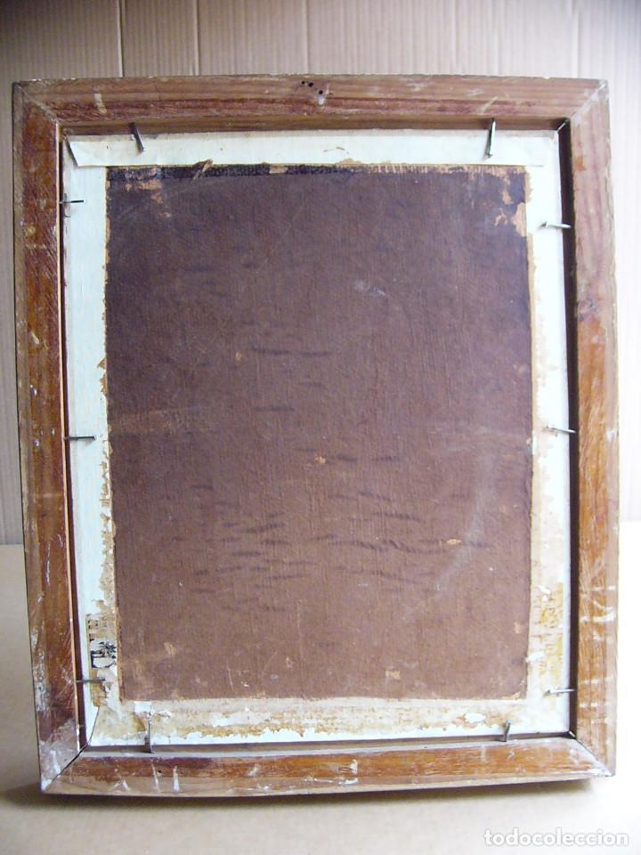 Arte: Cuadro pintura al oleo impresionista - Bodegon jarron con flores - Firmado y con marco - Foto 7 - 127024539
