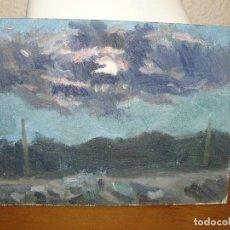 Arte: ÓLEO SOBRE TABLEX-ANÓNIMO-PAISAJE CREPUSCULAR. Lote 127114955
