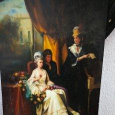 Arte: OLEO SOBRE TABLA. PINTURA ROMANTICA 30X40CM. Lote 127214252