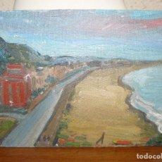 Arte: OLEO SOBRE TABLEX - ANÓNIMO - VISTA COSTERA. Lote 127218723