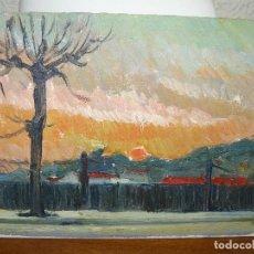 Arte: OLEO SOBRE TABLEX - ANÓNIMO - CREPUSCULO. Lote 127219539
