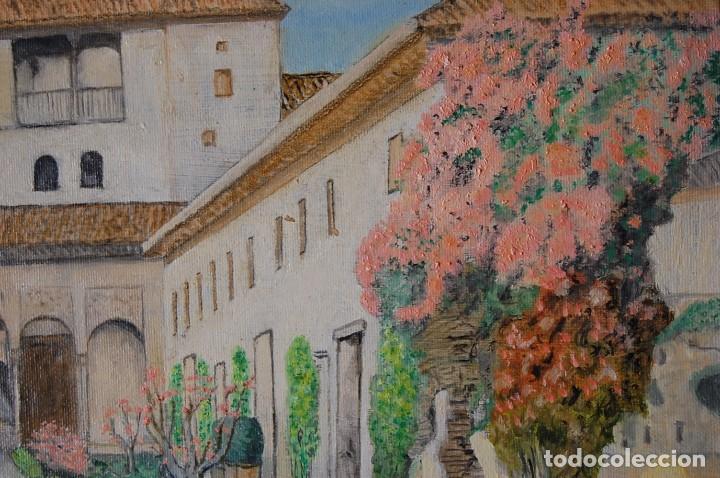 Arte: Patio de la Acequia, Alhambra de Granada - Pintura Original - Foto 4 - 127234627