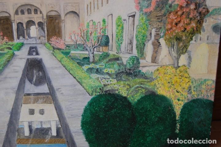 Arte: Patio de la Acequia, Alhambra de Granada - Pintura Original - Foto 8 - 127234627