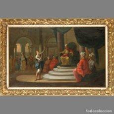 Arte: DIRK LANGENDYK (HOLANDÉS 1748-1805). JOSÉ ANTE EL FARAÓN/ PRESIDING OVER THE COURT. ÓLEO SOBRE. Lote 127237742