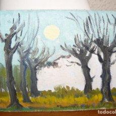 Arte: ÓLEO SOBRE TABLEX- ANÓNIMO- PAISAJE CON ÁRBOLES. Lote 127283939