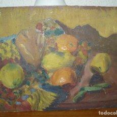 Arte: ÓLEO SOBRE CARTÓN-ANÓNIMO- BODEGÓN DE FRUTA. Lote 127339727