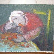 Arte: ÓLEO SOBRE TABLEX-ANÓNIMO-GULA. Lote 127342763