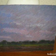 Kunst - ÓLEO SOBRE TABLEX-ANÓNIMO-PAISAJE CREPUSCULAR - 127344003
