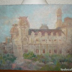 Arte: ÓLEO SOBRE CARTÓN-ANÓNIMO-CASA PALACIEGA. Lote 127344887