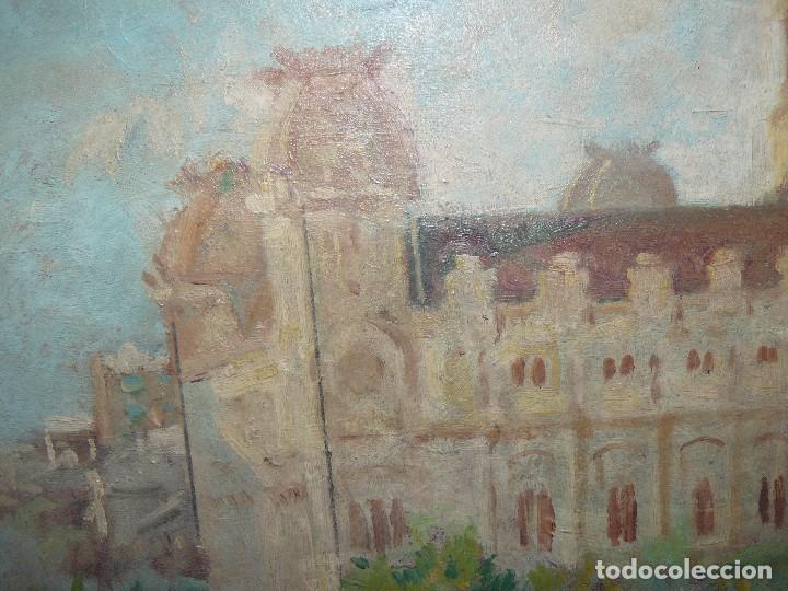 Arte: ÓLEO SOBRE CARTÓN-ANÓNIMO-CASA PALACIEGA - Foto 2 - 127344887