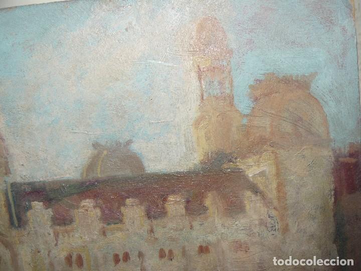 Arte: ÓLEO SOBRE CARTÓN-ANÓNIMO-CASA PALACIEGA - Foto 3 - 127344887