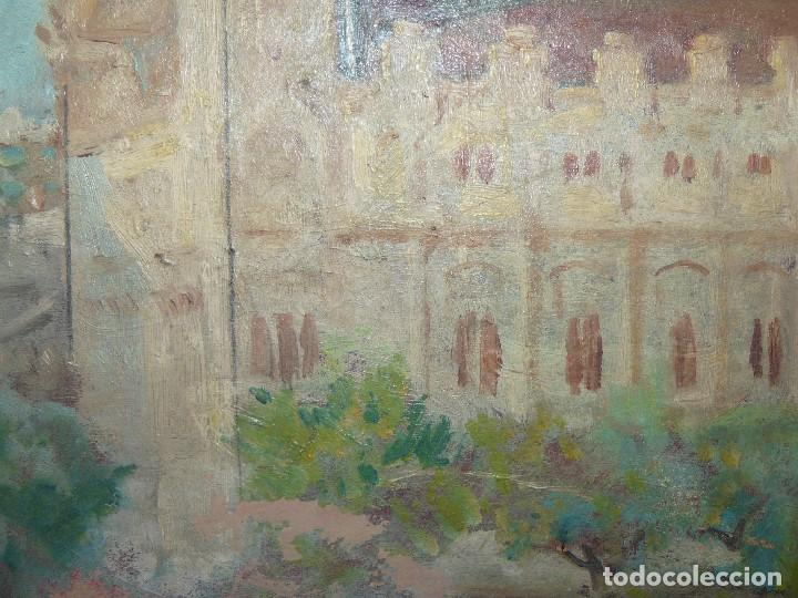 Arte: ÓLEO SOBRE CARTÓN-ANÓNIMO-CASA PALACIEGA - Foto 4 - 127344887