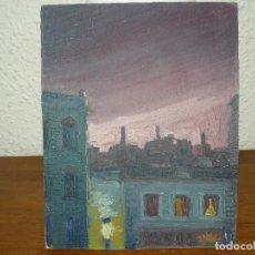 Arte: ÓLEO SOBRE TABLEX-ANÓNIMO-VISTA URBANA. Lote 127345823