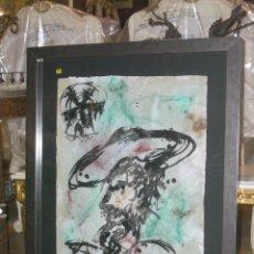 Arte: ESPECTACULAR OBRA DE JOAQUIM FALCO, DON QUIJOTE MED. 93 X 72 (70 X 50) CMS. Lote 127486355