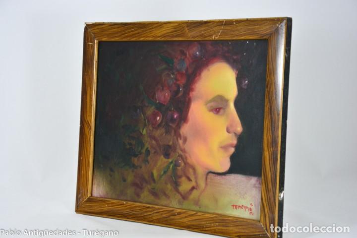 Arte: Pintura al óleo retrato de mujer - Firma de de autor Torrego - Foto 2 - 127549683