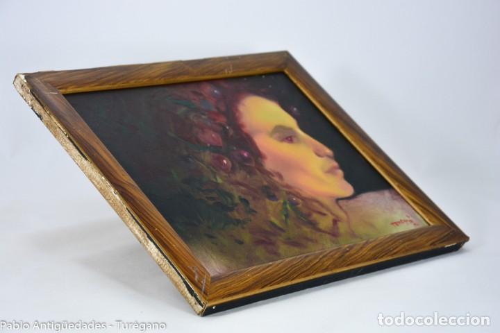 Arte: Pintura al óleo retrato de mujer - Firma de de autor Torrego - Foto 3 - 127549683