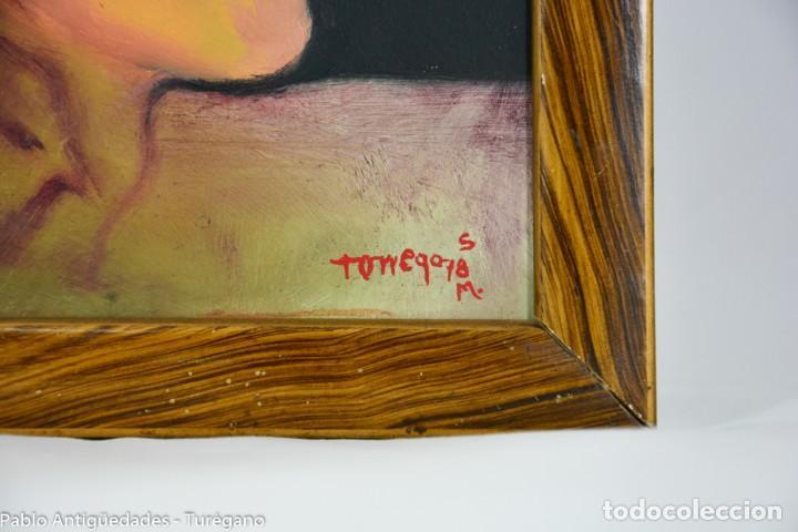 Arte: Pintura al óleo retrato de mujer - Firma de de autor Torrego - Foto 4 - 127549683
