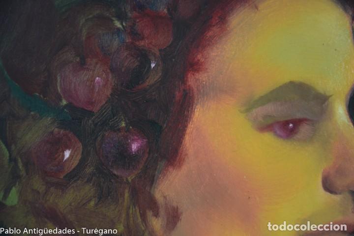 Arte: Pintura al óleo retrato de mujer - Firma de de autor Torrego - Foto 6 - 127549683