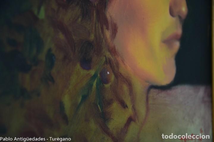 Arte: Pintura al óleo retrato de mujer - Firma de de autor Torrego - Foto 8 - 127549683