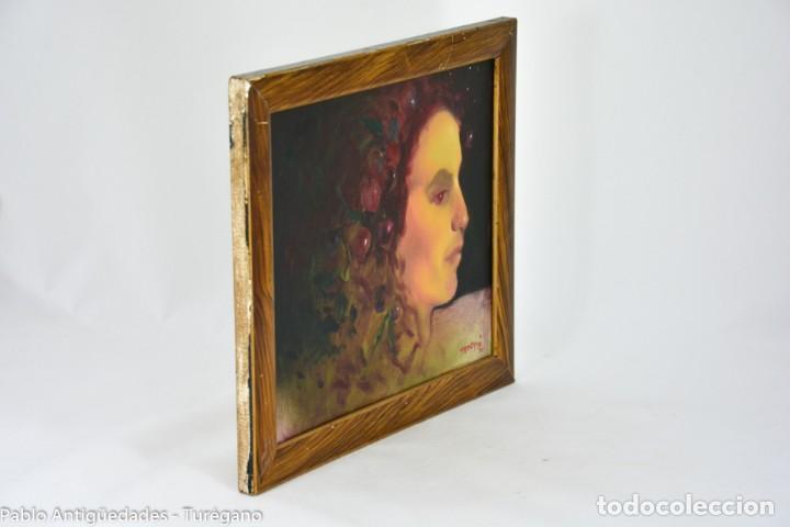 Arte: Pintura al óleo retrato de mujer - Firma de de autor Torrego - Foto 9 - 127549683
