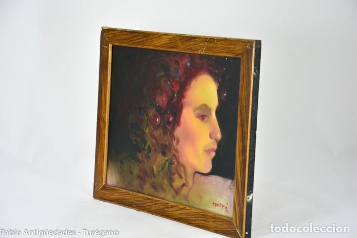 Arte: Pintura al óleo retrato de mujer - Firma de de autor Torrego - Foto 10 - 127549683