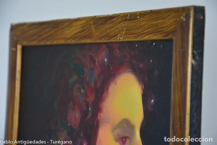Arte: Pintura al óleo retrato de mujer - Firma de de autor Torrego - Foto 11 - 127549683