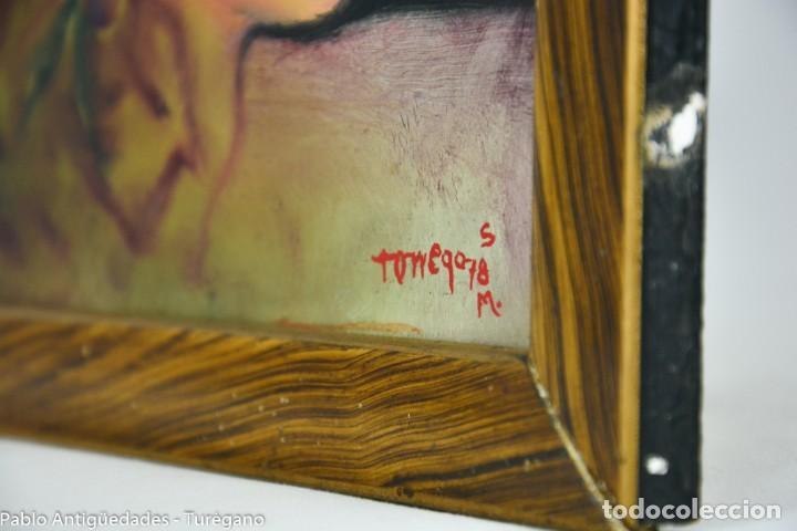 Arte: Pintura al óleo retrato de mujer - Firma de de autor Torrego - Foto 12 - 127549683