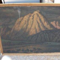 Arte: PAISAJE MONTAÑAS OLEO SOBRE LIENZO FIRMADO J VALS GRANDE MEDIDA 100 X 76 CM. ENMARCADO BUENA PINTURA. Lote 127558387