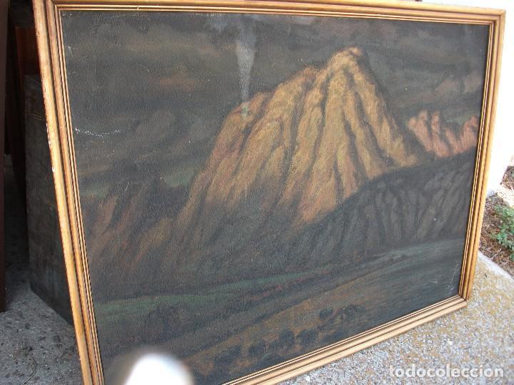 Arte: Paisaje montañas oleo sobre lienzo firmado J Vals grande medida 100 X 76 cm. enmarcado buena pintura - Foto 2 - 127558387