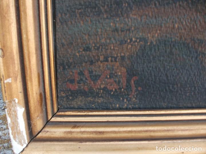 Arte: Paisaje montañas oleo sobre lienzo firmado J Vals grande medida 100 X 76 cm. enmarcado buena pintura - Foto 3 - 127558387