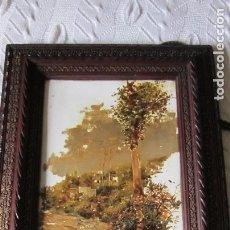 Arte: EXCEPCIONAL PLACA DE LOZA FINA PICKMAN PINTADA AL OLEO (2 ). Lote 127620991