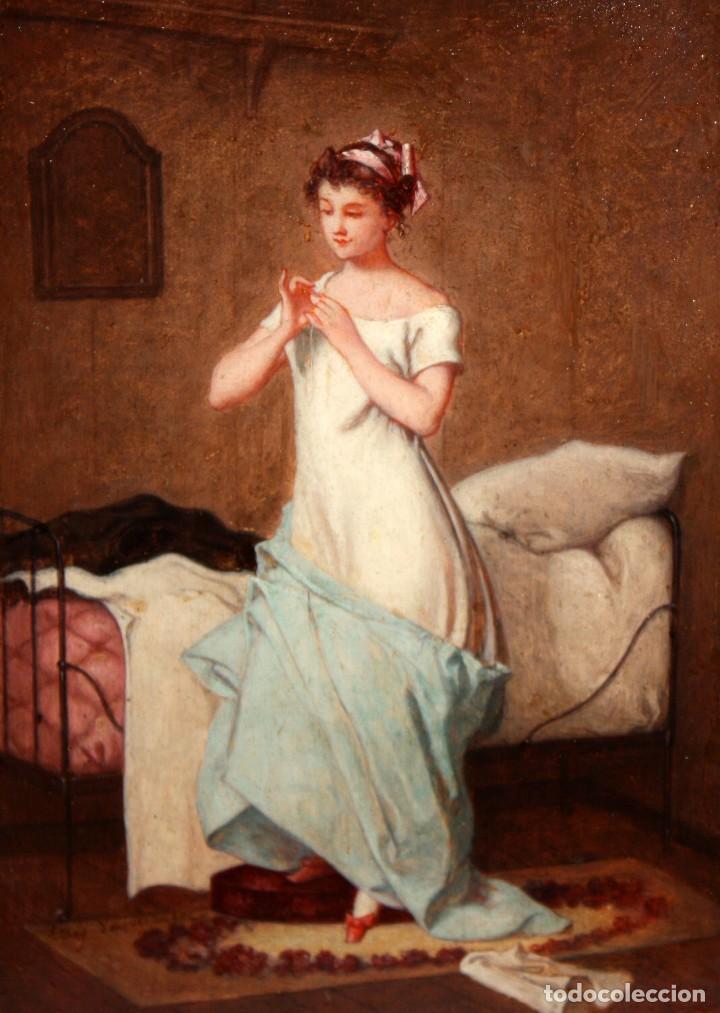 LEROY DER VETTEZ. OLEO SOBRE TABLA DEL SIGLO XIX. MOSQUETERO (Arte - Pintura - Pintura al Óleo Moderna siglo XIX)