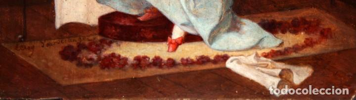 Arte: LEROY DER VETTEZ. OLEO SOBRE TABLA DEL SIGLO XIX. MOSQUETERO - Foto 6 - 127636923
